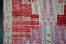 Load image into Gallery viewer, 2'8 x 11'2 Herki Runner Muted Reds, Cream and Gray