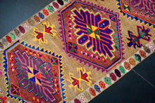 Load image into Gallery viewer, 3'5 x 12'3 Bright Turkish Runner MCM Fuscia Runner Bohemian