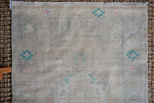 Load image into Gallery viewer, 3' x 10' Vintage Turkish Oushak Runner Muted Gray, Turquoise and Beige
