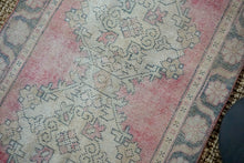 Load image into Gallery viewer, 3'1 x 9'8 Vintage Turkish Oushak Runner Muted Red, Charcoal and Beige