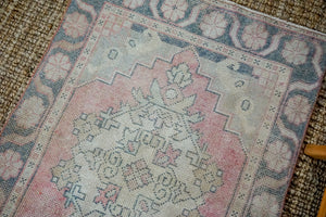 3'1 x 9'8 Vintage Turkish Oushak Runner Muted Red, Charcoal and Beige