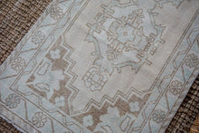 Load image into Gallery viewer, 3' x 9' Vintage Turkish Oushak Runner Muted Beige, Cream + Sea Green