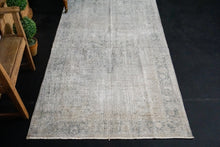 Load image into Gallery viewer, 3'7 x 6'7 Vintage Oushak Rug Gray Overdyed Carpet