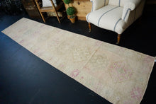 Load image into Gallery viewer, 2'9 x 12'9 Herki Runner Muted Pink, Blush and Gray