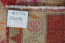 Load image into Gallery viewer, 2'6 x 13' Herki Runner Muted Red, Violet, Cream & Beige