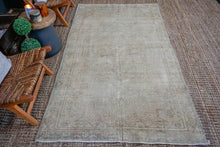 Load image into Gallery viewer, 4'6 x 8'1 Vintage Turkish Oushak Carpet Monochromatic Tones