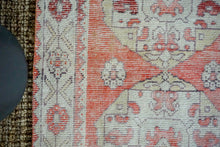 Load image into Gallery viewer, 3'1 x 10' Vintage Turkish Oushak Runner Muted Red, Cream and Violet