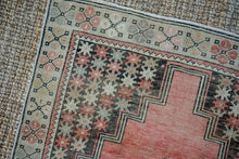 Load image into Gallery viewer, 4' x 7' Vintage Turkish Oushak Carpet Pink, Gray and Graphite