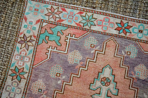 4'2 x 8'10 Vintage Turkish Oushak Carpet Muted Copper, Purple and Teal