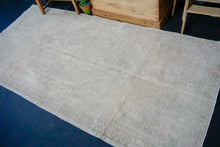 "Load image into Gallery viewer, 4' x 8'3"" Turkish Oushak Rug Muted Greige, Mauve  & Olive"