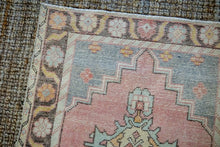 Load image into Gallery viewer, Sold 1/21*3' x 9' Vintage Turkish Runner Muted Pink, Vanilla and Blue