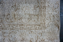 Load image into Gallery viewer, 3'9 x 6'6 Vintage Turkish Oushak Rug Light Fog Gray Overdyed Carpet