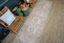 Load image into Gallery viewer, 3' x 10' Turkish Oushak Runner Muted Brick, Gray + Beige