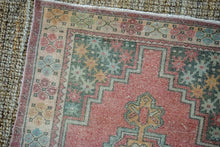Load image into Gallery viewer, Sold 2/22*3'6 x 5'7 Oushak Rug Muted Red, Gray and Apricot Vintage Turkish Carpet