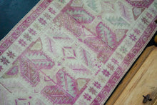 Load image into Gallery viewer, 2'11 x 8' Turkish Herki Runner Muted Pink and Beige Handmade