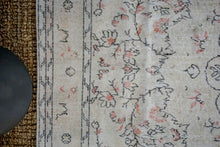 Load image into Gallery viewer, 6'8 x 10'1 Vintage Oushak Rug Muted  Beige, Gray, Black & Red Carpet