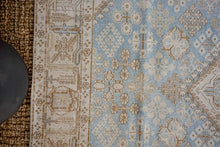 Load image into Gallery viewer, 6'9 x 6'9 Classic Vintage Carpet Muted Light Blue, Beige + Brown Square Rug