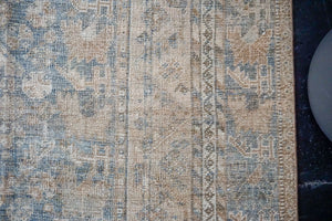 Sold 4/27*10'4 x 13'5 Antique Mahal Carpet Cream & Blue