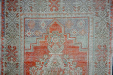 Load image into Gallery viewer, 3' x 10'3 Vintage Turkish Runner Muted Coral Red, Beige & Taupe