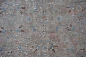 9'2 x 13' Vintage Persian Mahal Linen-Blush-Beige and Blue
