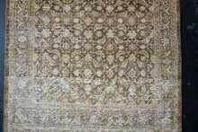 Load image into Gallery viewer, 3'4 x 9'9 Persian Runner Brown and Beige and Pale Peach