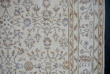 Load image into Gallery viewer, 7'2 x 10'6 Vintage Oushak Rug Periwinkle Blue, Copper + Beige Carpet