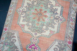 Sold 5/1*3'5 x 14'8 Persian Malayer Runner Indigo Blue, Brown and Blush-Beige