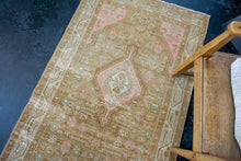 Load image into Gallery viewer, 3'6 x 13'9 Persian Malayer Runner Camel and Blush Pink