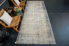 Load image into Gallery viewer, 4'6 x 11'9 Vintage Oushak Runner Muted Navy Blue and Clay-Gray