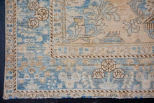 Load image into Gallery viewer, 7' x 10'1 Classic Vintage Rug Muted Blue + Blush-Beige Carpet