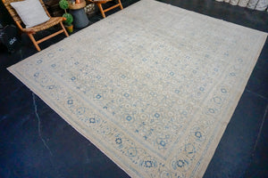 10'1 x 12'9 Classic Vintage Rug Cool Beige, + Denim Blue Carpet