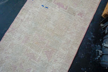 Load image into Gallery viewer, 2'7 x 11'1 Vintage Oushak Runner Pinks and Cream