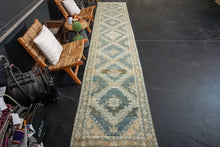 Load image into Gallery viewer, Sold 2/9*3' x 15' Classic Vintage Runner Muted Blue, Camel Beige & Cream