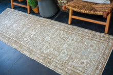 Load image into Gallery viewer, Sold EG 2/18*2'8 x 8'7 Classic Vintage Runner Muted Brown + Light Beige & Gray Available 2/20*