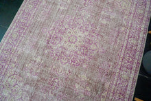 Load image into Gallery viewer, 6'10x 10'3 Vintage Oushak Rug Muted Fuchsia, Violet and Beige Carpet