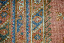 Load image into Gallery viewer, 4' x 6'9 Turkish Milas Rug Blue, Rose + Deep Teal 1960's