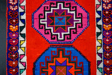 Load image into Gallery viewer, 2'10 x 13'8 Turkish Herki Runner Red and Rainbow