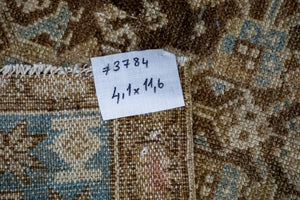 4'1 x 11'6 Classic Vintage Runner Muted Brown, Blue + Beige