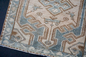 On hold for HGI*2'7 x 9'8 Classic Vintage Runner Muted Sea-Blue, Beige + Brown