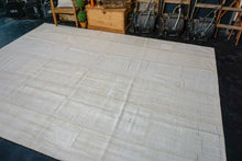 Load image into Gallery viewer, 8'10 x 12'4 MCM Vintage Organic Hemp Rug Off White Collage Kilim