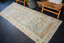 Load image into Gallery viewer, 3'3 x 8'8 Classic Vintage Runner Muted Blue, Beige + Brown