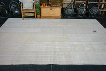 Load image into Gallery viewer, 9'x 12' MCM Vintage Organic Hemp Rug Off White Collage Kilim