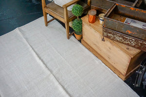Hold for Terrie til 7/30*9 x 12 Organic Hemp Flatweave Rug Vintage Turkish Off White Scandinavian Style 70's
