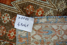 Load image into Gallery viewer, 4'1 x 6'1 Classic Vintage Rug Muted Rust, Beige, Cream + Gray Carpet