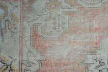 Load image into Gallery viewer, 4'7 x 7'6 Oushak Rug Muted Red, Cream and Gray Vintage Carpet