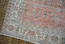 Load image into Gallery viewer, 6'10 x 10'3 Vintage Oushak Rug Muted Red, Beige, Green + Gray Carpet