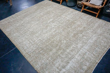 Load image into Gallery viewer, 8'6 x 11'5 Classic Vintage Rug Muted Champagne Beige + Blue Carpet