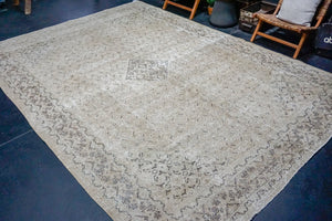 9'2 x 12'9 Classic Vintage Rug Muted Greige, Brown + Sage Carpet