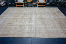 Load image into Gallery viewer, 9'5 x 12'10 Classic Vintage Rug Muted Camel Beige,  Copper + Green Carpet