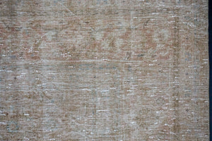 9'5 x 12'10 Classic Vintage Rug Muted Camel Beige,  Copper + Green Carpet